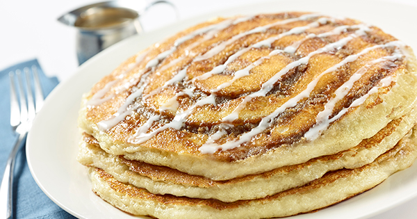 Excuse Us, We Have a Date with Cheesecake Factory's Cinnamon Roll Pancake Recipe