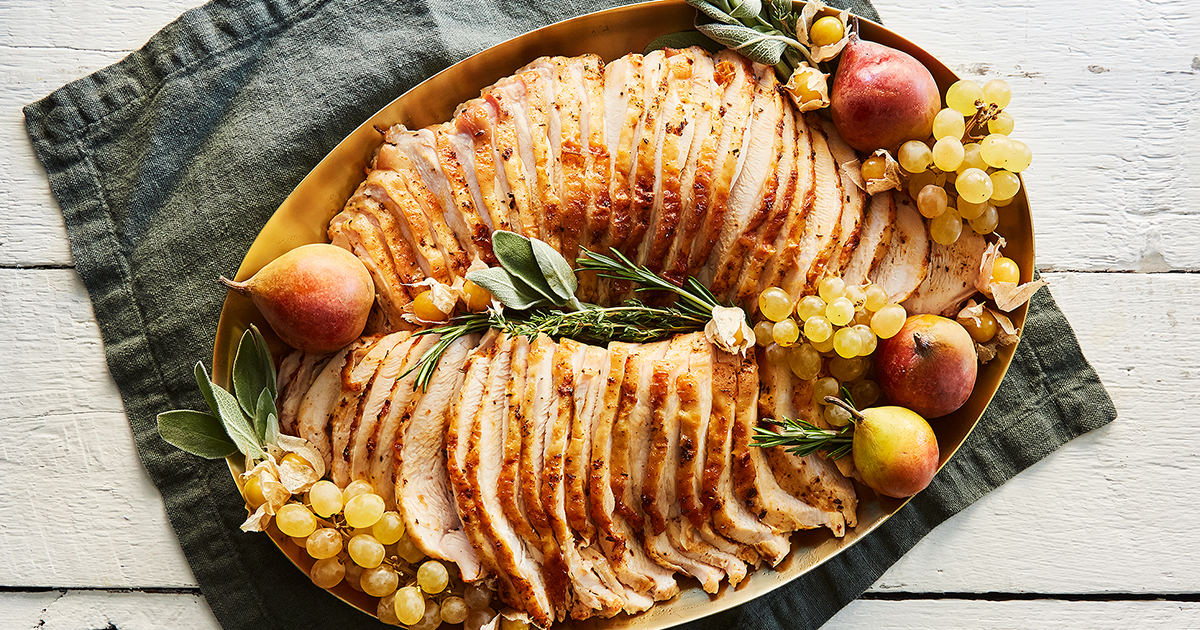 Slow-Cooker Turkey Breast with Orange and Herbs