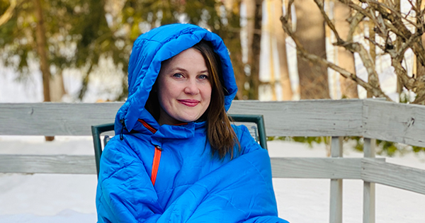 This Wearable Sleeping Bag is the Only Way I'm Getting Through Cold-Weather Catch-ups
