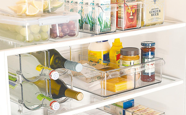 the container store fridge organizers