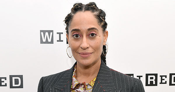 Tracee Ellis Ross Wins Instagram in Vintage Chanel Cape Covered in Thousands of White Feathers