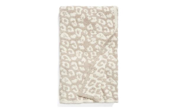 barefoot dreams cozy blanket animal print